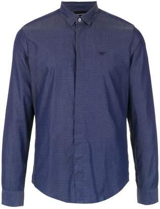 Emporio Armani tiny dot patterned shirt