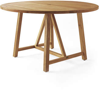 Serena & Lily Crosby Teak Round Dining Table