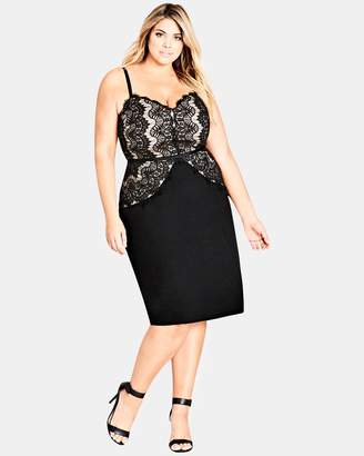 City Chic Spell It Out Dress