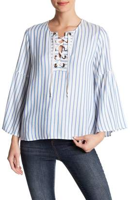 Karen Kane Lace Up Top