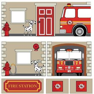 DHP Curtain Set for Junior Loft Bed with Fire Department Design