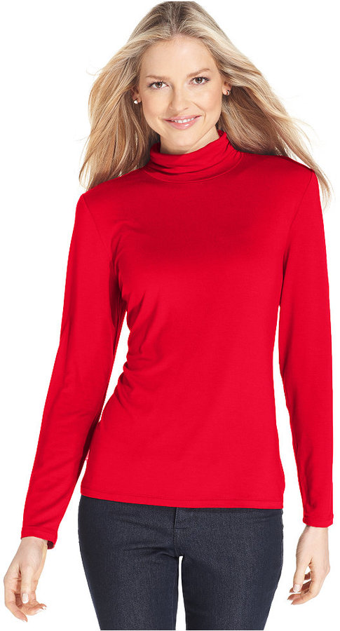 Style&Co. Style & Co Mock-Turtleneck Top, Only at Macy's
