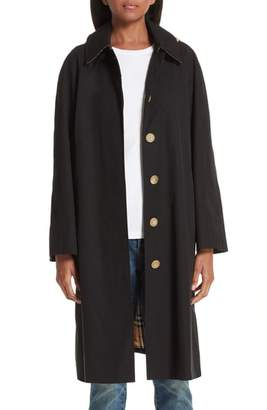 Burberry Richmond Tropical Gabardine Car Coat with Detachable Hood