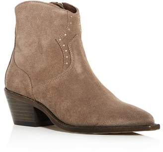 AllSaints Women's Melanie Suede Western Pointed Toe Booties