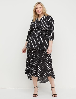 Lane Bryant Polka Dot Midi Skirt