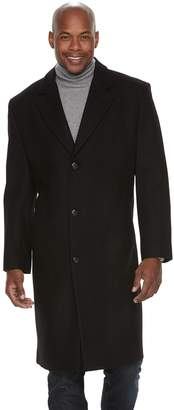 London Fog Tower By Men's Tower by Wool-Blend Single-Breasted High-Notch Collar Top Coat