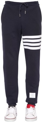 Thom Browne Cotton Sweatpants W/ Intarsia Stripes