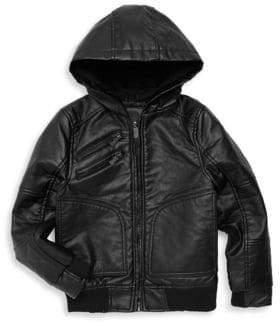 Urban Republic Little Boy's Faux-Leather Hooded Jacket