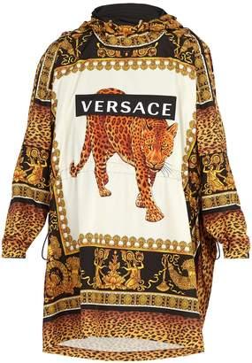 Versace Leopard-print hooded raincoat