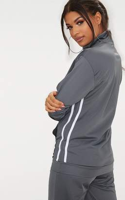 PrettyLittleThing Grey Tracksuit Funnel Neck Sweater