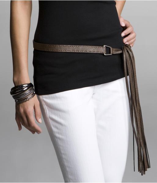 Fringe Side-Tie Belt
