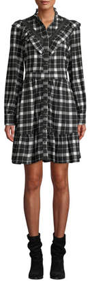 Kate Spade Rustic Plaid Flannel Shirt Dress