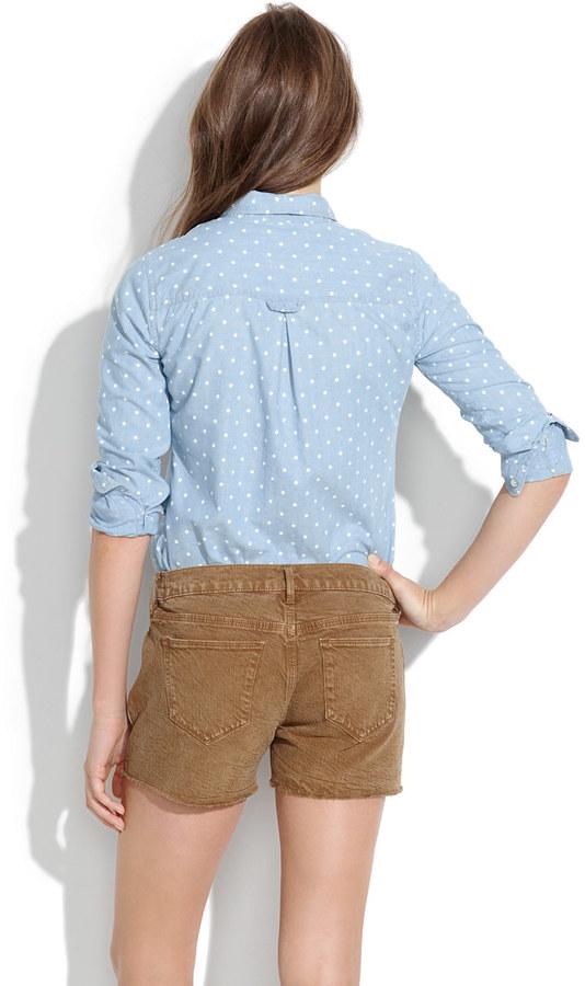 Madewell Denim Cutoff Shorts in Kraft Brown