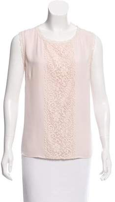 Laundry by Shelli Segal Lace-Accented Sleeveless Top