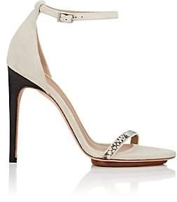 Calvin Klein WOMEN'S VALERY SUEDE & PYTHON SANDALS-BEIGE, TAN SIZE 10