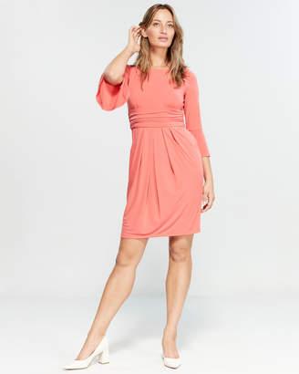 Eliza J Ruched Bell Sleeve Dress