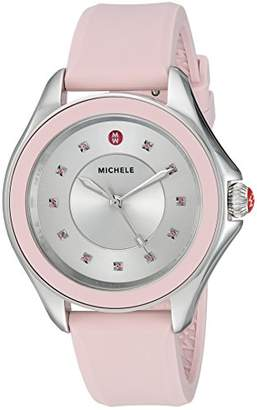 Michele Women's 'Cape Topaz' Swiss Quartz Stainless Steel and Silicone Casual Watch
