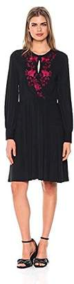 Wild Meadow Women's Embroidered Draped Jersey Glamour Dress S