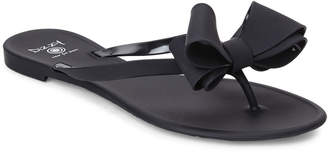 b0f16fa497eba6 Black Bow Thong Sandals - ShopStyle