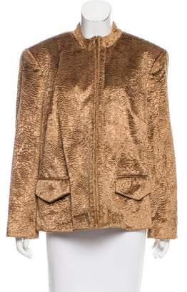 Oscar de la Renta Oscar by Textured Oversize Jacket