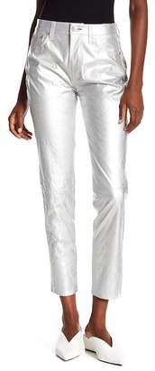 Rag & Bone Metallic Leather High Rise Skinny Jeans