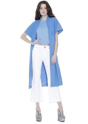 Alice + Olivia Amelia Suede Short Sleeve Kimono