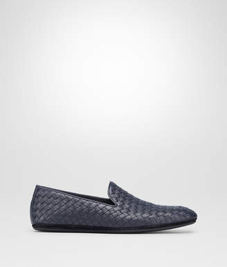 Bottega Veneta DARK NAVY INTRECCIATO CALF SLIPPER