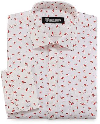 Stacy Adams Long Sleeve Woven Pattern Dress Shirt