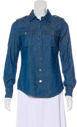 Tory Burch Chambray Button-Up Top