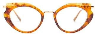 Cat Eye Kaleos - Lennox Acetate Glasses - Womens - Tortoiseshell