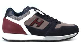 Hogan H321 Blue And Burgundy Sneakers