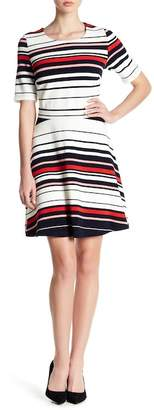 Pleione Textured Fit & Flare Dress