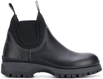 Prada round toe boots