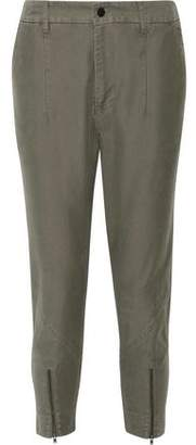 Bassike Cropped Cotton Pants