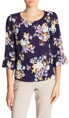 Bobeau B Collection by Lula Floral Print Blouse