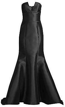 Basix Black Label Women's Strapless Mikado Mermaid Gown