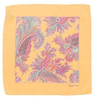 Ralph Lauren Purple Label Paisley Print Silk Pocket Square