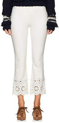 Derek Lam 10 Crosby Women's Eyelet-Detailed Stretch-Cotton Crop Pants