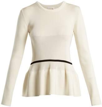 Chloé Peplum-hem striped-detail sweater