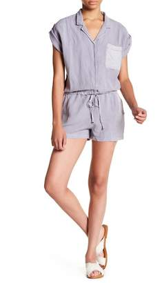 Young Fabulous & Broke YFB by Jacobson Linen Blend Woven Romper