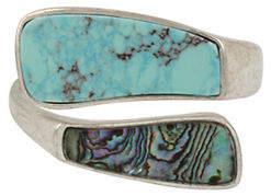 Robert Lee Morris SOHO Santa Fe Crystal, Turquoise and Abalone Bangle Bracelet
