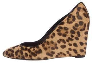 Brian Atwood Ponyhair Leopard Print Wedges