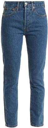 RE/DONE ORIGINALS High-rise slim-leg cropped jeans