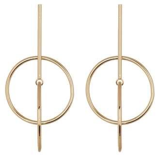 Leslie Danzis Interlocked Circle Earrings