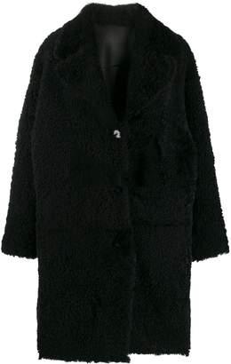Drome midi shearling coat