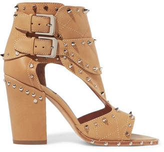 Laurence Dacade Deric Embellished Leather Sandals - Beige