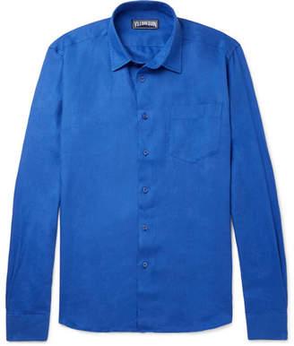 Vilebrequin Caroubis Linen Shirt - Men - Blue