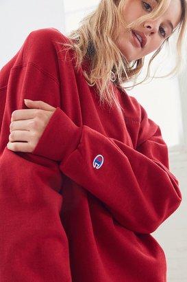 Champion + UO Mini Logo Crew-Neck Sweatshirt $55 thestylecure.com