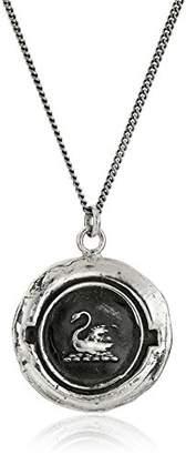 Pyrrha talisman Sterling Swan Pendant Necklace