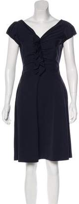 Diane von Furstenberg Ruched Cap Sleeve Knee-Length Dress